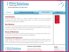 I-Matic Solutions Website